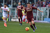 Daniele Baselli of Torino FC in action during the Serie A between Torino FC and Carpi FC at Stadio Olimpico di Torino on February 21 2016 in Turin...