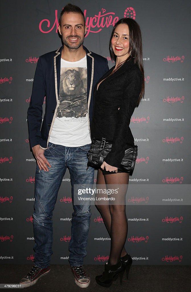 Daniele Battaglia and Nadia Venturini attend the Maddalena Corvaglia Presents Maddyctive Web Magazine at Old Fashion Cafe on March 17, 2014 in Milan, Italy.