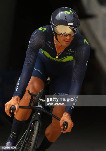 Daniele Bennati of Italy and Movistar Team in action during stage twenty of Le Tour de France 2017 on July 22 2017 in Marseille France