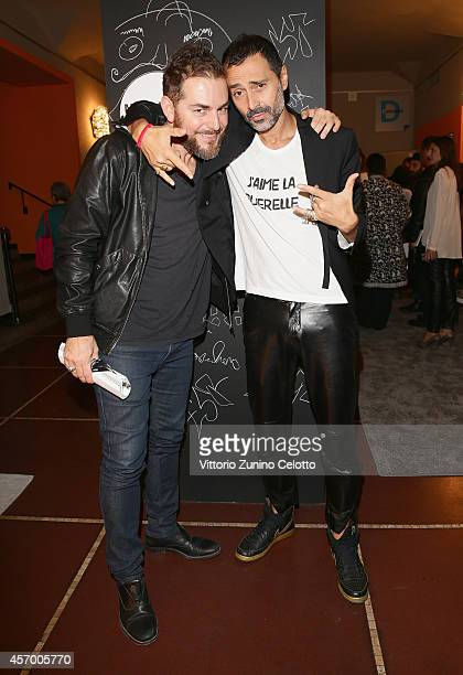 Daniele Bossari and Fabio Novembre attend the 'Milan Design Film Festival' photocall at Cinema Anteo on October 10 2014 in Milan Italy