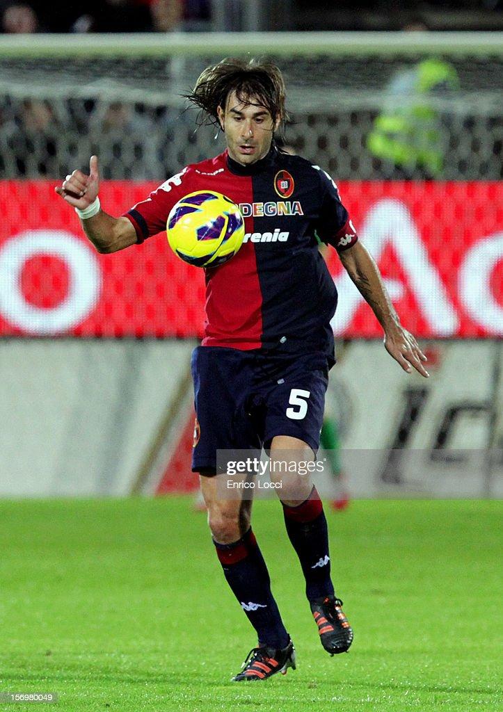 Daniele Conti during the Serie A match between Cagliari Calcio and SSC Napoli at Stadio Sant'Elia on November 26, 2012 in Cagliari, Italy.