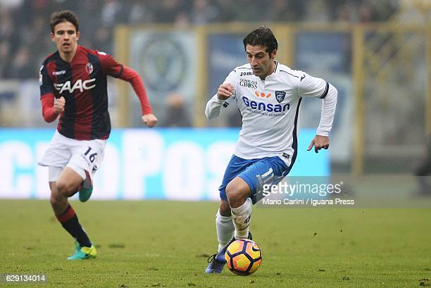Daniele Croce of Bologna FC in action during the Serie A match between Bologna FC and Empoli FC at Stadio Renato Dall'Ara on December 11 2016 in...