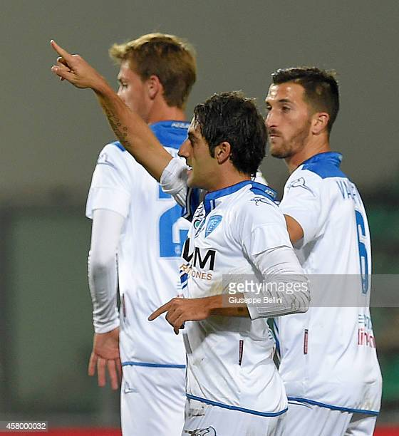 Daniele Croce of Empoli celebrates after scoring the opening goal during the Serie A match between US Sassuolo Calcio and Empoli FC at Mapei Stadium...
