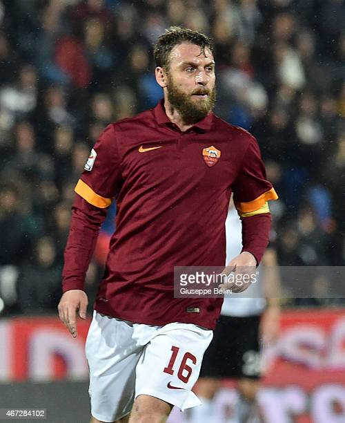 Daniele De Rossi of AS Roma during the Serie A match between AC Cesena and AS Roma at Dino Manuzzi Stadium on March 22 2015 in Cesena Italy