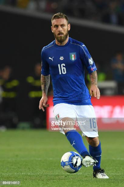 Daniele De Rossi of Italy in action during the FIFA 2018 World Cup Qualifier between Italy and Liechtenstein at Stadio Friuli on June 11 2017 in...