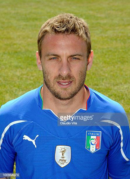 Daniele De Rossi of Italy poses during the official Fifa World Cup 2010 portrait session on May 26 2010 in Sestriere near Turin Italy