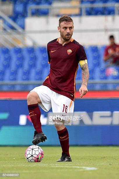 Daniele De Rossi of Roma during the Italian Serie A match between AS Roma and FC Carpi at Stadio Olimpico in Rome on September 26 2015