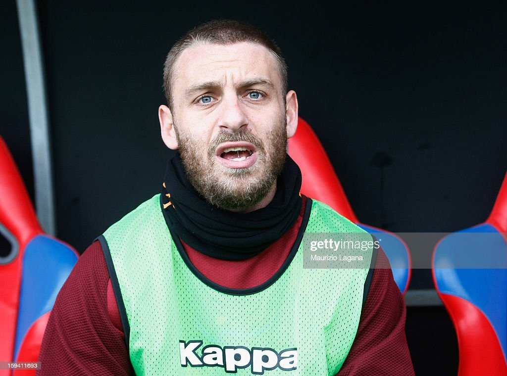 Daniele De Rossi of Roma during the Serie A match between Calcio Catania and AS Roma at Stadio Angelo Massimino on January 13, 2013 in Catania, Italy.