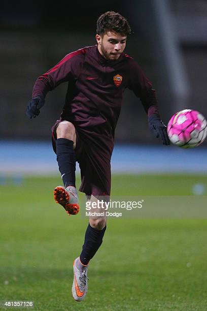 Daniele De Silva of AS Roma controls the ball during an AS Roma training session at Lakeside Stadium on July 20 2015 in Melbourne Australia