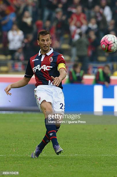 Daniele Gastaldello of Bologna FC in action during the Serie A match between Bologna FC and US Citta di Palermo at Stadio Renato Dall'Ara on October...