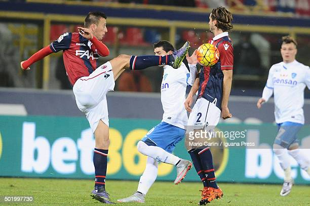 Daniele Gastaldello of Bologna FC in action during the Serie A match between Bologna FC and Empoli FC at Stadio Renato Dall'Ara on December 19 2015...