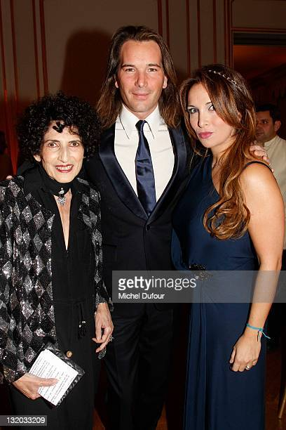 Daniele Hermann Helene Segara and her husband attend Charity Gala For Cardiovascular Foundation Hosted by Me Hermann at Hotel Dassault on November 9...