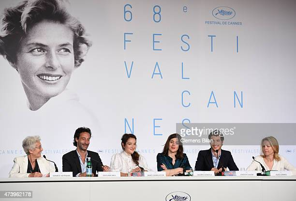 Daniele Heymann Edouard Weil Anais Demoustier Valerie Donzelli Jeremie Elkaim and Alice Girard attend the 'Marguerite And Julien' press conference...