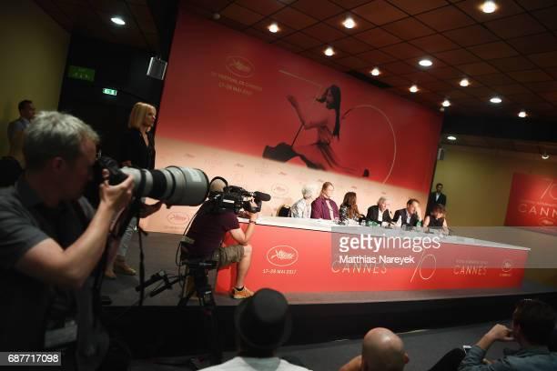 Daniele Heymann Severine Caneele Izia Higelin Jacques Doilon Vincent Lindon and Kristina Larsen attend the 'Rodin' press conference during the 70th...