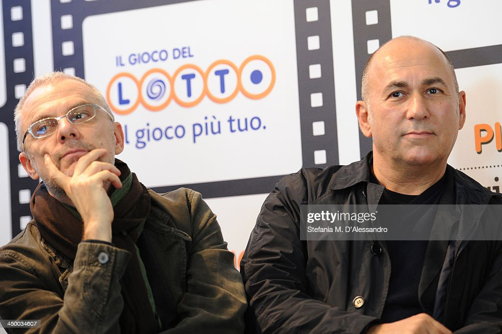 Daniele Luchetti (L) and Ferzan Ozpetek attend the Casting Awards Ceremony during the 8th Rome Film Festival at the Auditorium Parco Della Musica on November 16, 2013 in Rome, Italy.