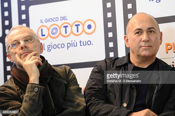 Daniele Luchetti and Ferzan Ozpetek attend the Casting Awards Ceremony during the 8th Rome Film Festival at the Auditorium Parco Della Musica on...