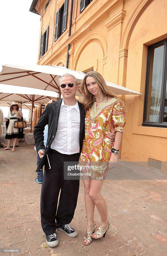 Daniele Luchetti (L) and Yvonne Scio attend the Picnic Swing at 'La Posta Vecchia' on May 30, 2010 in Ladispoli, Italy.