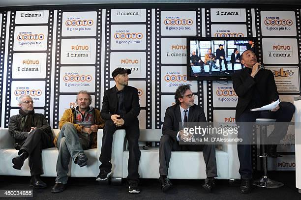 Daniele Luchetti Giovanni Veronesi Roberto Bigherati Sergio Castellitto attend the Casting Awards Ceremony during the 8th Rome Film Festival at the...
