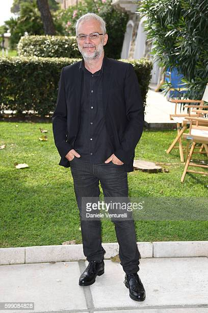 Daniele Luchetti poses after the Kineo Diamanti Award press conference during the 73rd Venice Film Festival at on September 4 2016 in Venice Italy