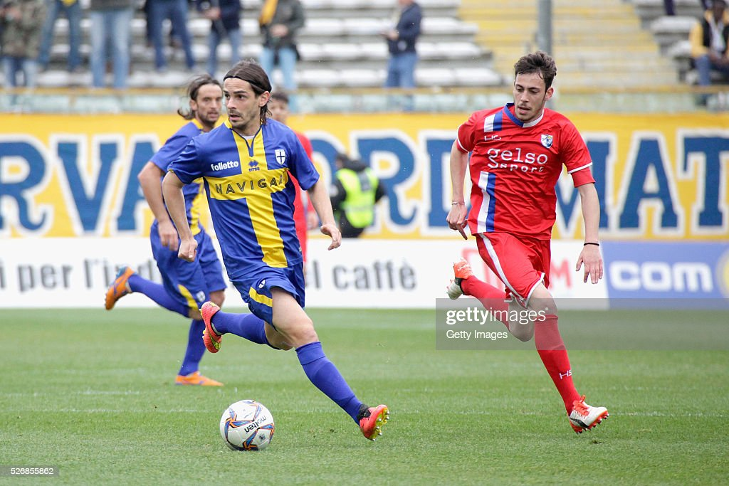 Daniele Melandri of Parma in action during the Serie A match between Parma Calcio 1913 and Bellaria Igea Marina at Stadio Ennio Tardini on May 1, 2016 in Parma, Italy.