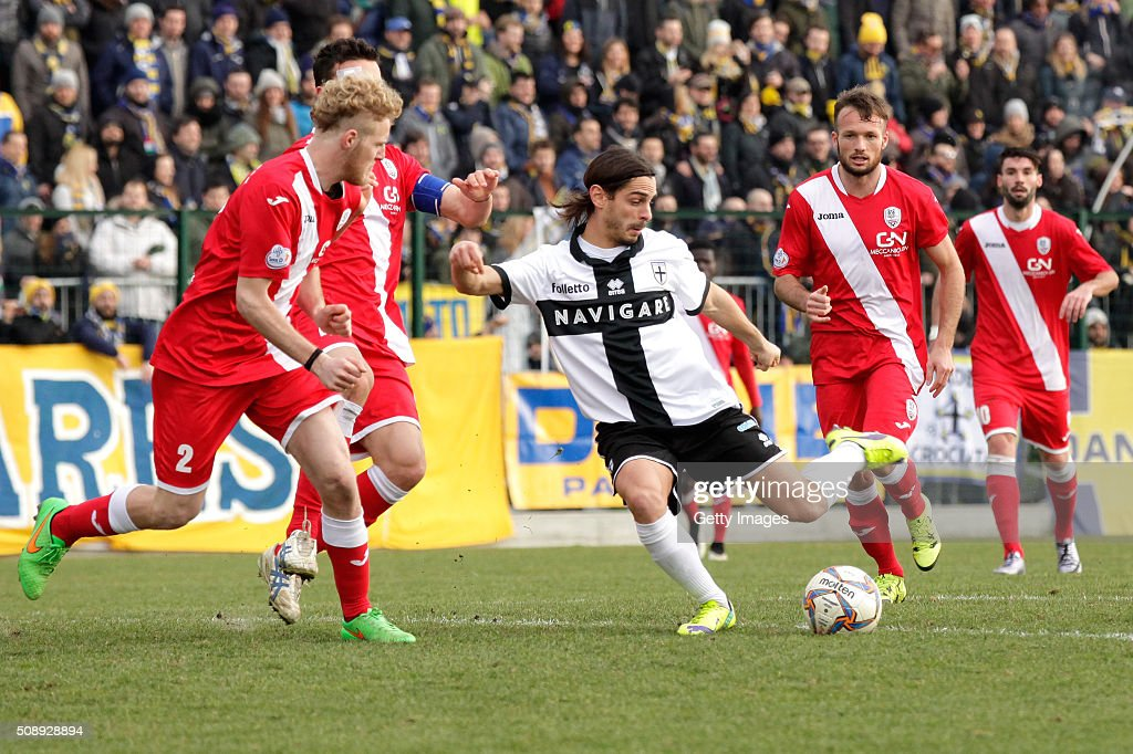 Daniele Melandri of Parma in action durnig the Serie D match between Correggese Calcio and Parma Calcio 1913 on February 7, 2016 in Valdagno, Italy.