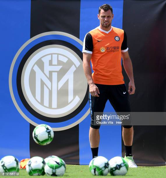 Daniele Padelli of FC Internazionale in action during a FC Interazionale training session at Suning training center on July 20 2017 in Nanjing China
