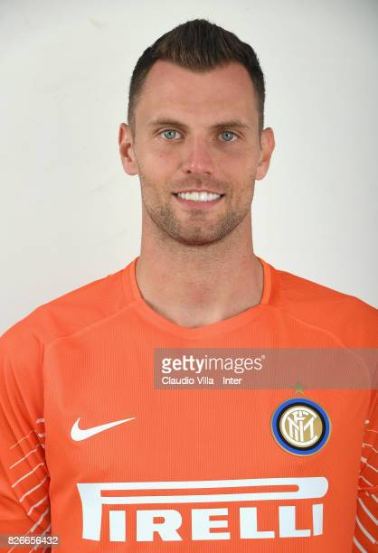 Daniele Padelli of FC Internazionale poses on July 7 2017 in Reischach near Bruneck Italy