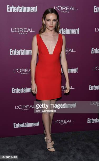 Daniele Panabaker attends the Entertainment Weekly 2017 preEmmy party at the Sunset Tower hotel in West Hollywood on September 15 2017 / AFP PHOTO /...