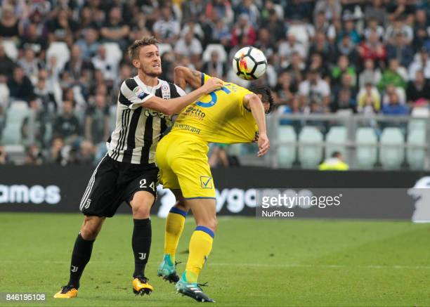 Daniele Rugani during Serie A match between Juventus v Chievo Verona on September 9 2017 in Turin Italy