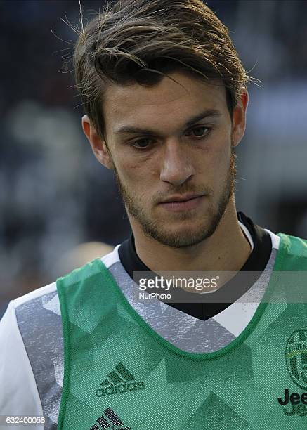Daniele Rugani during Serie A match between Juventus v Lazio in Turin on January 22 2017
