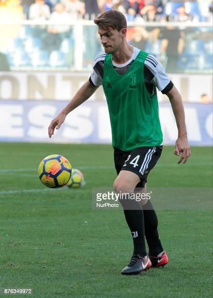 Daniele Rugani during Serie A match between Sampdoria v Juventus in Genova on November 19 2017