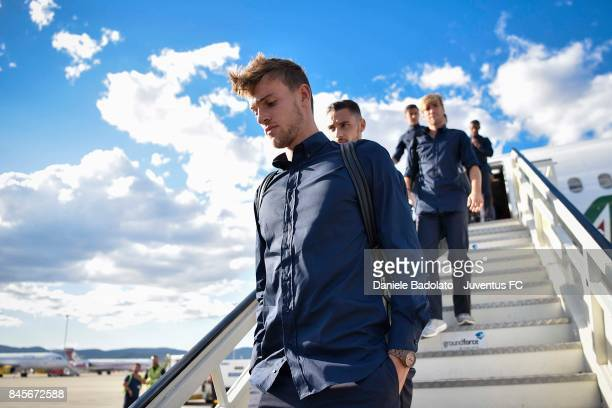 Daniele Rugani during the Juventus trip to Barcelona ahead of the UEFA Champions League match against Barcelona at on September 11 2017 in Turin Italy