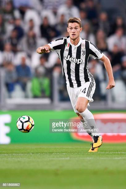 Daniele Rugani during the Serie A match between Juventus and ACF Fiorentina on September 20 2017 in Turin Italy