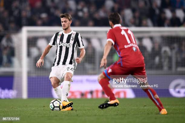 Daniele Rugani during the Serie A match between Juventus and Spal at the Allianz Stadium on October 25 2017 in Turin Italy