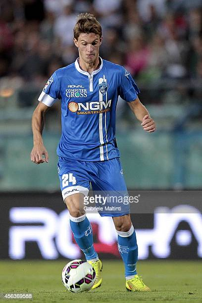 Daniele Rugani of Empoli FC in action during the Serie A match between Empoli FC and AC Milan at Stadio Carlo Castellani on September 23 2014 in...