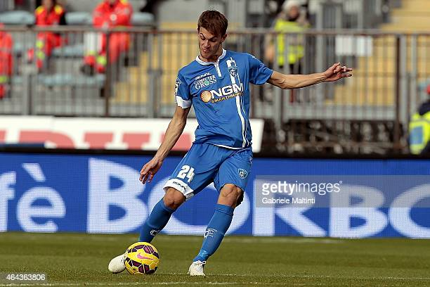 Daniele Rugani of Empoli FC in action during the Serie A match between Empoli FC and AC Chievo Verona at Stadio Carlo Castellani on February 22 2015...