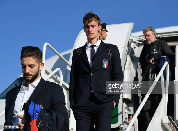 Daniele Rugani of Italy arrives at Malpensa airport on November 11 2017 in Milan Italy