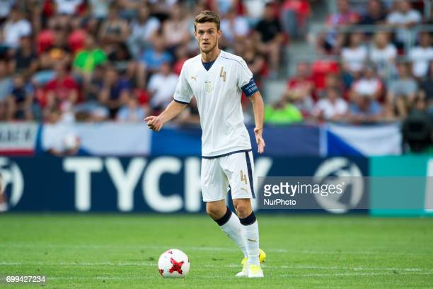 Daniele Rugani of Italy during the UEFA European Under21 Championship 2017 Group C between Czech Republic and Italy at Tychy Stadium in Tychy Poland...
