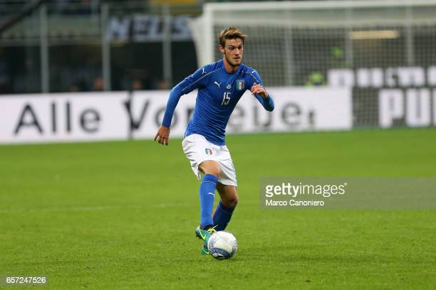 Daniele Rugani of Italy in action during the International friendly match between Italy and Germany at Giuseppe Meazza Stadium