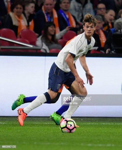 Daniele Rugani of Italy in action during the international friendly match between Netherlands and Italy at Amsterdam Arena on March 28 2017 in...