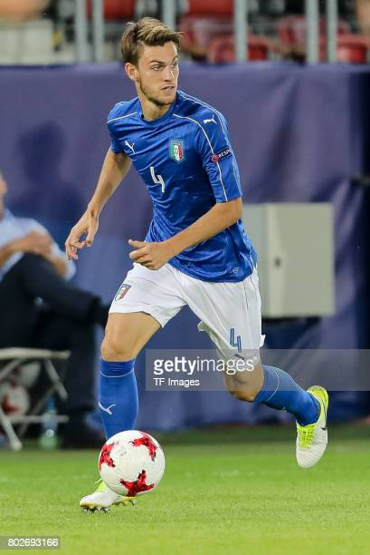 Daniele Rugani of Italy in action during the UEFA U21 championship match between Italy and Germany at Krakow Stadium on June 24 2017 in Krakow Poland
