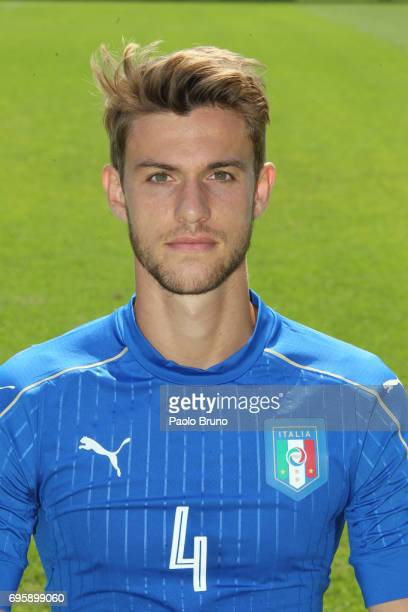 Daniele Rugani of Italy U21 poses during the official team photo at Centro Sportivo Fulvio Bernardini on June 14 2017 in Rome Italy