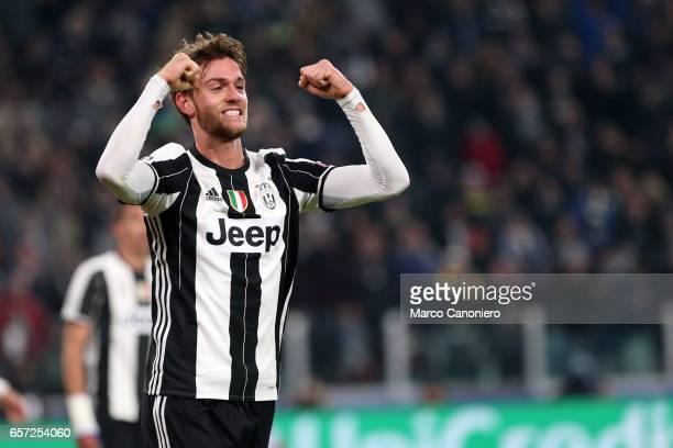 Daniele Rugani of Juventus celebrates a goal during the UEFA Champions League Group H match between Juventus and GNK Dinamo Zagreb Juventus FC won 20...