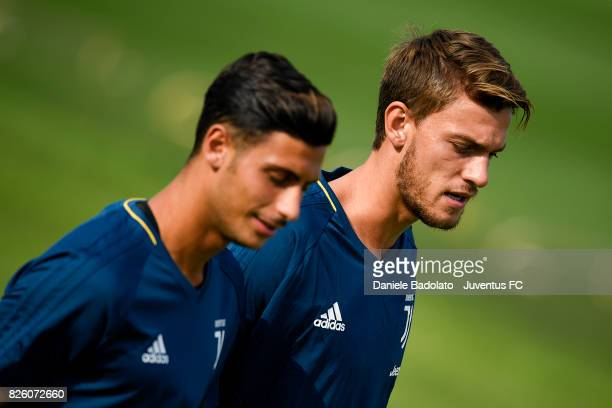 Daniele Rugani of Juventus during a training session on August 3 2017 in Vinovo Italy