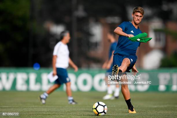 Daniele Rugani of Juventus during the afternoon training session part of the Summer Tour 2017 by Jeep on July 23 2017 in Boston Massachusetts