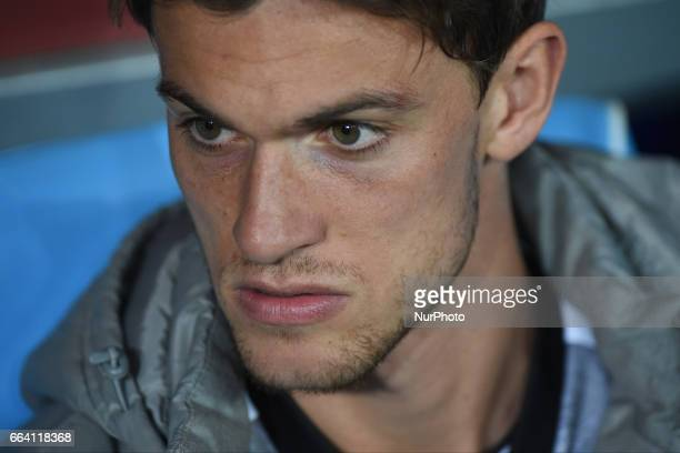 Daniele Rugani of Juventus FC during the Serie A TIM match between SSC Napoli and Juventus FC at Stadio San Paolo Naples Italy on 2 April 2017