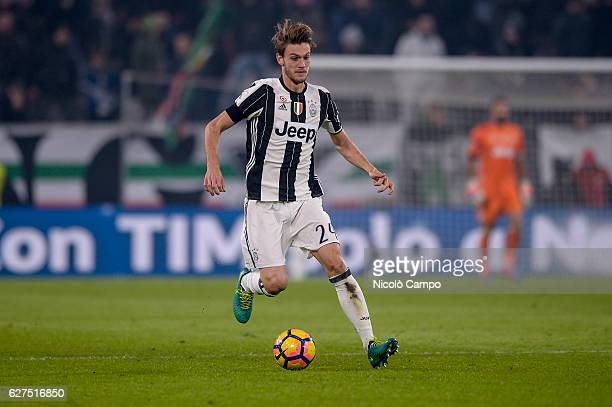 Daniele Rugani of Juventus FC in action during the Serie A football match between Juventus FC and Atalanta BC Juventus FC won 31 over Atalanta BC