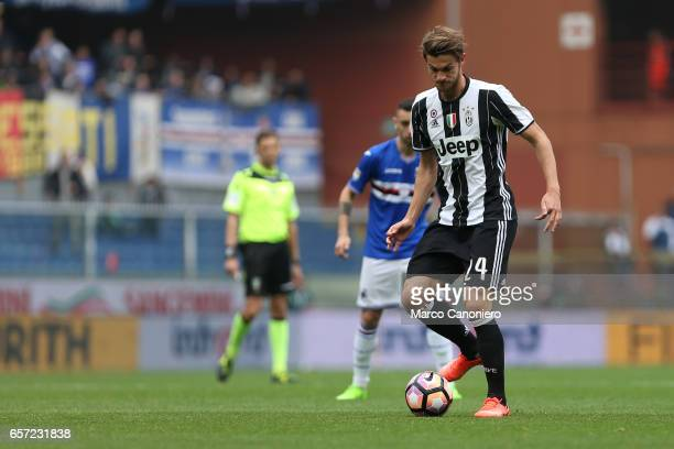 Daniele Rugani of Juventus Fc in action during the Serie A football match between UC Sampdoria and Juventus FC Juventus FC wins 10 over UC Sampdoria