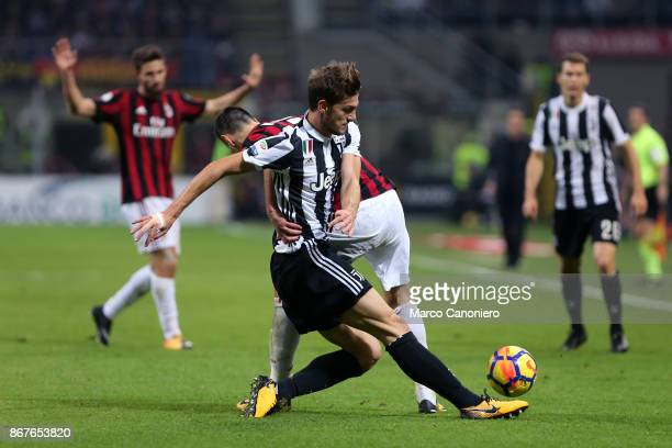 Daniele Rugani of Juventus FC in action during the Serie A football match between Ac Milan and Juventus Fc Juventus Fc wins 20 over Ac Milan