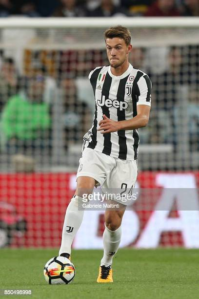 Daniele Rugani of Juventus in action during the Serie A match between Juventus and ACF Fiorentina on September 20 2017 in Turin Italy